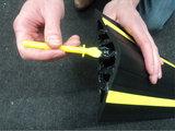 Drempelprofiel waterkering 5cm hoog inclusief montagekit_