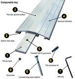 TIJDELIJK NIET LEVERBAAR Drempelprofiel aluminium 1,5cm hoog_